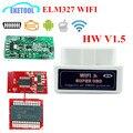 HW Adaptador Firmware Versão V1.5 ELM327 Wi-Fi Sem Fio Funciona Multi-ELM 327 Leitor de Código de Carros Da Marca 1.5 Chips PIC18F25K80