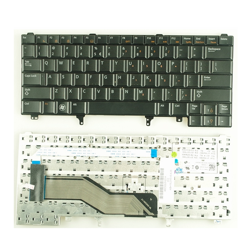 YALUZU New US <font><b>keyboard</b></font> for <font><b>Dell</b></font> Latitude E6220 <font><b>E6230</b></font> E6430s E6420 0C7FHD English without Point Stick black image