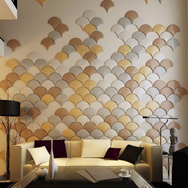 Schlafzimmer Len Design 3d leder wandaufkleber schälen und stick kunstleder wandfliesen für