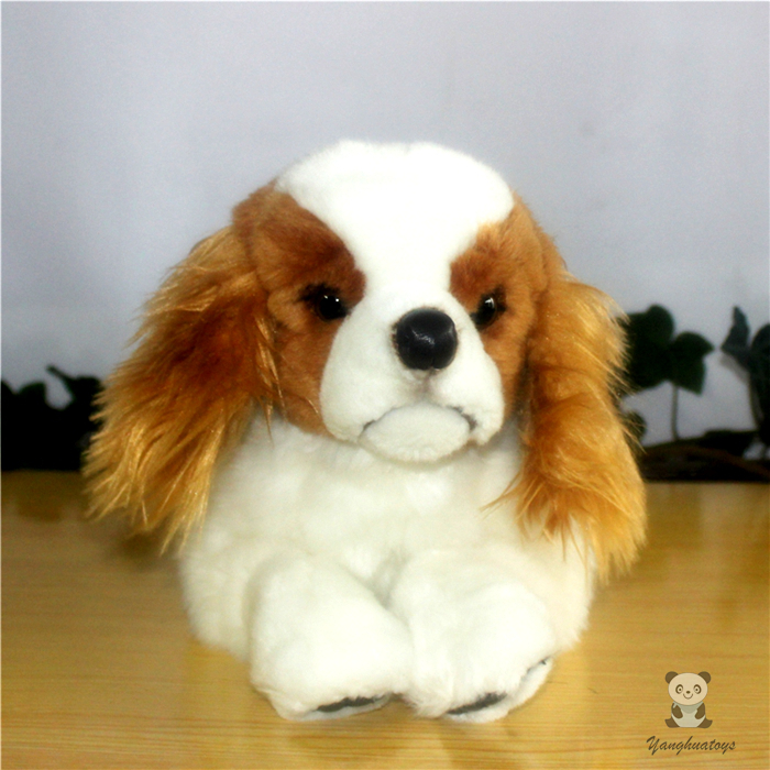Big Toy Simulation Dogs Doll  Plush Cavalier King Charles Spaniel Stuffed Animal Toys Children Gift Pillow couple frog plush toy frog prince doll toy doll wedding gift ideas children stuffed toy