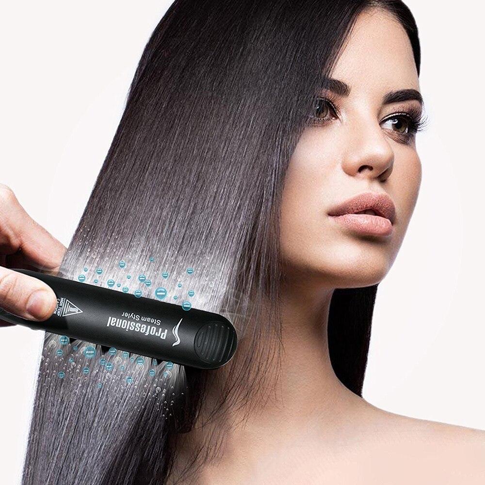 Профессиональный паровой выпрямитель для волос, керамический утюжок для выпрямления волос, утюжок для завивки, паровой прибор для укладки волос 6