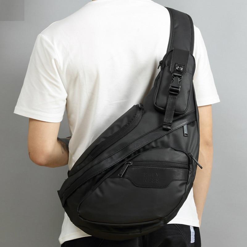 High Quality Nylon Men Sling Backpack Day Pack Messenger Shoulder Bags Male Waterproof Cross Body Chest Bag Rucksack Knapsack