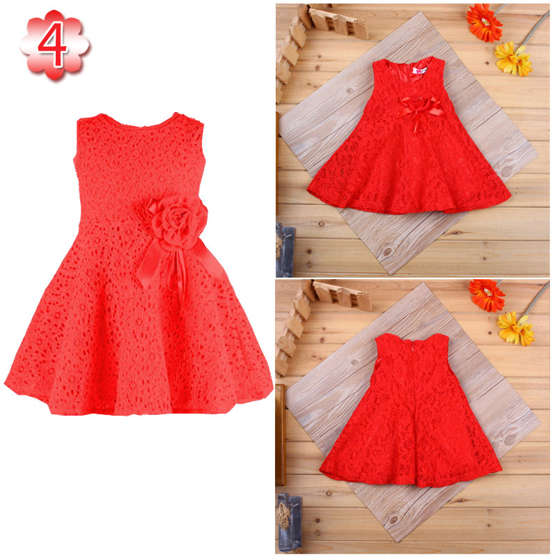 Baby Girl Dresses New 2017 Lace Sleeveless 13 Color 1 Year Birthday Dress For Girls Christening Gowns Children's Clothes DRE008