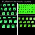 1 unids, pegatinas fluorescentes teclado, ruso Tailandés Alfabeto Coreano para todo tipo de teclado, diseño de fluorescencia luminosa, KMC218