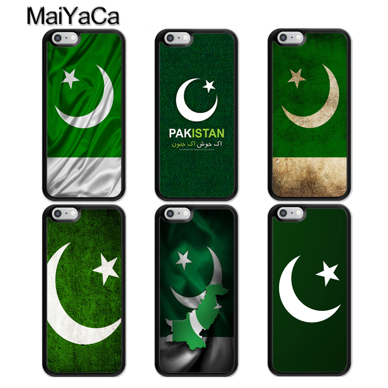 MaiYaCa Pakistan Flag Banner TPU Phone Case For iPhone X XR XS MAX 6S 6 7 8 Plus 5S SE Rubber