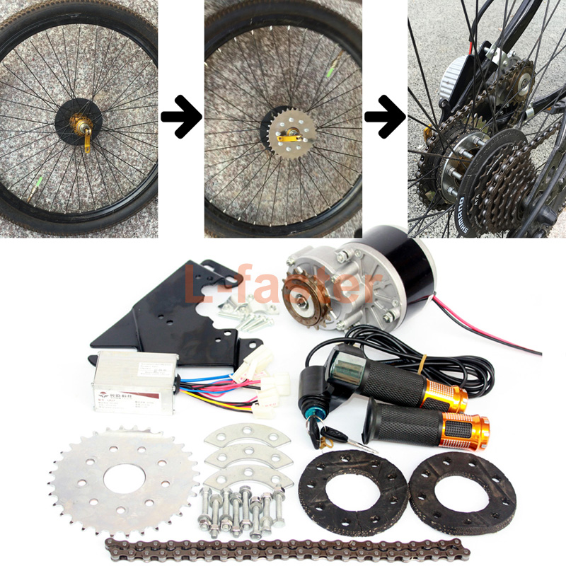 New Arrival 250W Electric Conversion Kit For Common Bike Left Chain Drive Customized For Electric Geared