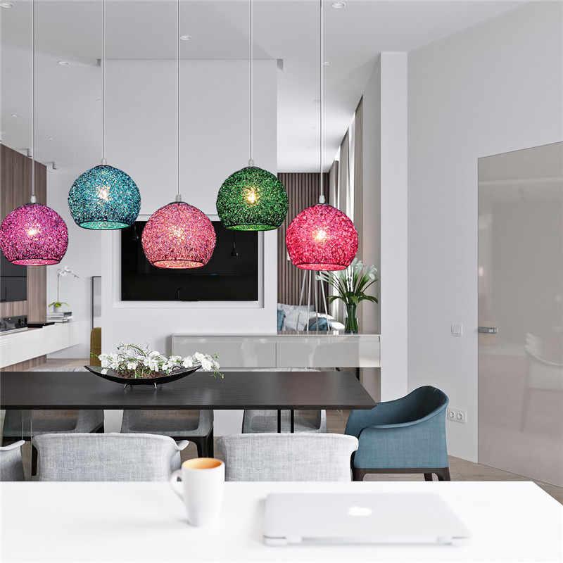Современный светодиодный светильник 18 см с разноцветными шариками, металлический подвесной светильник, подвесной светильник в скандинавском кофейне для гостиной, столовой, бара, спальни