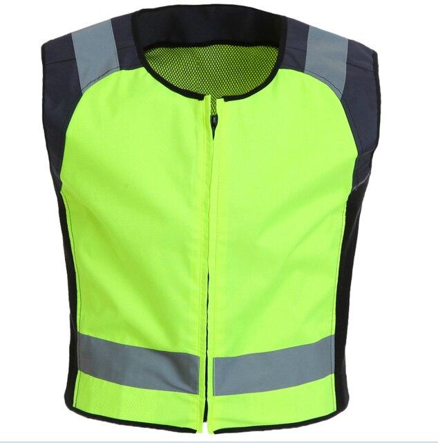Reflective jacket safety gear night reflective jacket fluorescent with black size S-M customize logo printing wholesales V120003