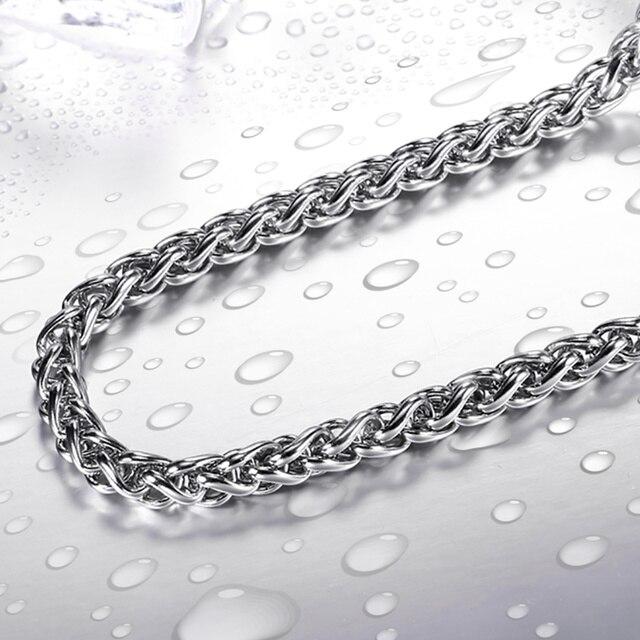 Beier DELL'ACCIAIO inossidabile 316L catena d'avanguardia larghezza 3mm/4mm/5mm collana boy man collana catena Colore Silver Monili di modo LBN1006