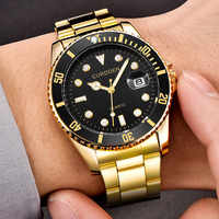 CURDDE Luxury Brand Mens Watches Fashion Military Business Stainless Steel Date Sport Clock Quartz Analog Wrist Watch zegarek
