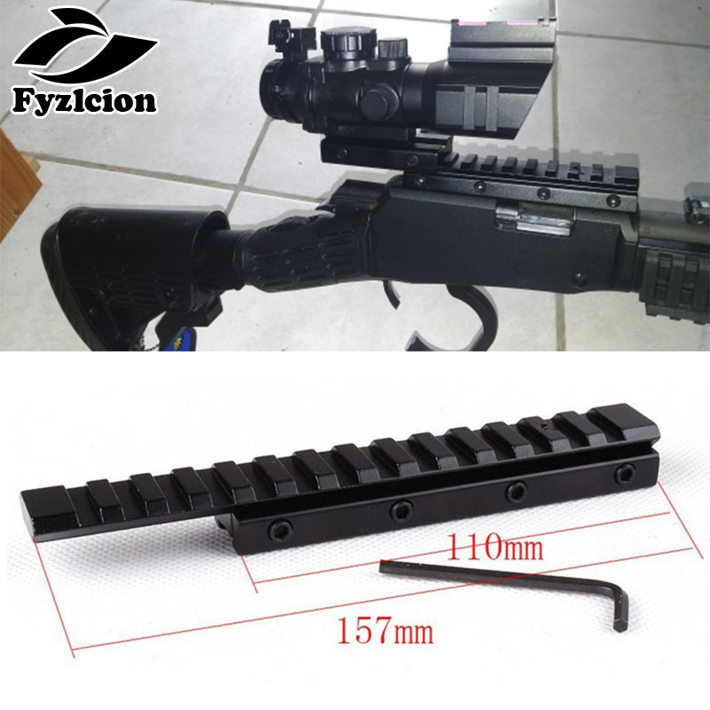 Hunting Scope Laser Base 155MM Extend Scope Mount 11mm To 20mm/21mm Dovetail Rail Weaver Picatinny Rail Adapter Extensible