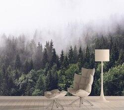 Природа 3d фотообои обои s для гостиной девушка обои s домашний декор контактная бумага спальня Туманный лес рулоны