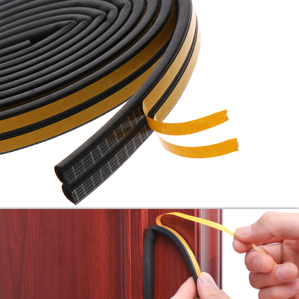 10M Draught Excluder Self Adhesive Rubber Door Window Seal Strip Roll Foam AL