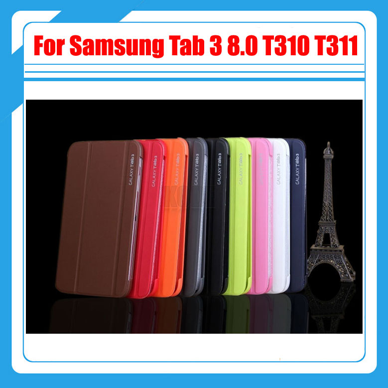3 in 1 Smart PU Leather Case For Samsung Galaxy Tab 3 8.0 T310 T311 P8200 + Screen Film + Stylus 3 in 1 high quality business smart pu leather book cover case for samsung galaxy tab s2 t710 t715 8 0 stylus screen film