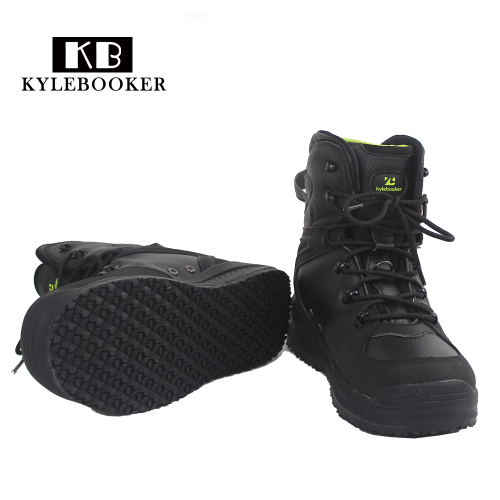 Outdoor fishing wading shoes dry quickly and non slip wader rubber sole boots for hunting fly