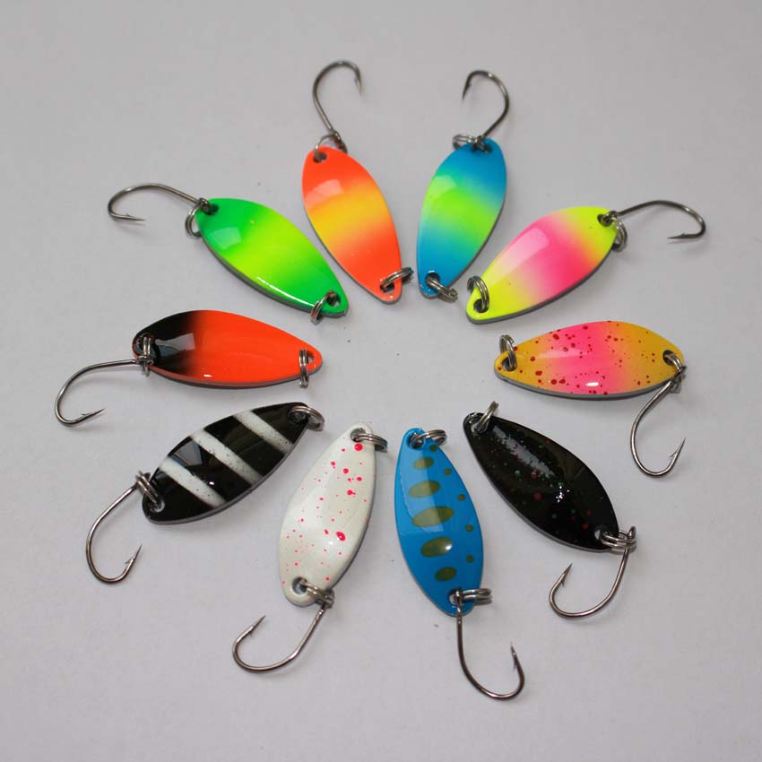 New fishing lure 5g metal spoon lure mixed colors fishing for New fishing lures