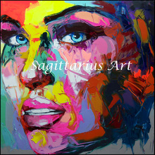Hand Painted Untitled 515 Francoise Nielly Designers Cool Face Palette knife Abstract Oil Painting Canvas Home Fine Art artwork