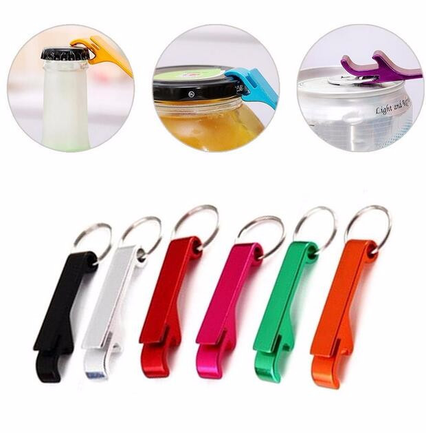 DHL 500 pcs/lot New promotion customed printed logo gift Metal aluminum alloy bottle opener metal keychain laser LOGO-in Openers from Home & Garden    2