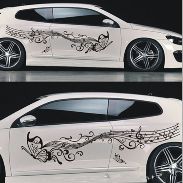 Car Stickers And Decals Flower Butterfly Car Body Sticker Custom - Custom car body stickers