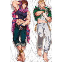 Anime Japan Pillow Case Hugging Body 150*50 Peach Skin jojo's bizarre adventure jonathan joestar