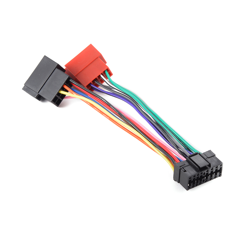Sony Wiring Harness Diagram Data Audio Wire 16 Pin Color 16pin Iso Connector Cable Adapter For Car Radio Xplode Stereo Colors