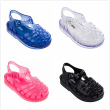 Melissa Shoes Summer New Roman Boy Girl Sandals Brazil Jelly Children Beach Non-slip Toddler