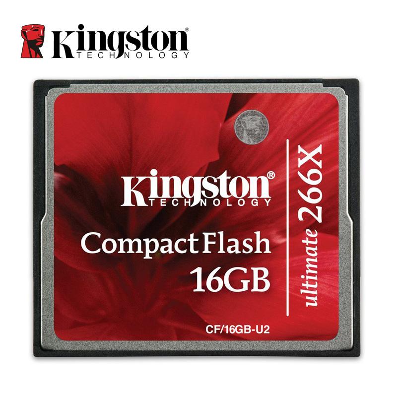 Prix pour Kingston CF Cartes D'origine Capacité Réelle 16 GB 32 GB 64 GB Compact Flash Carte 266X Haute vitesse Caméra Mémoire cartes