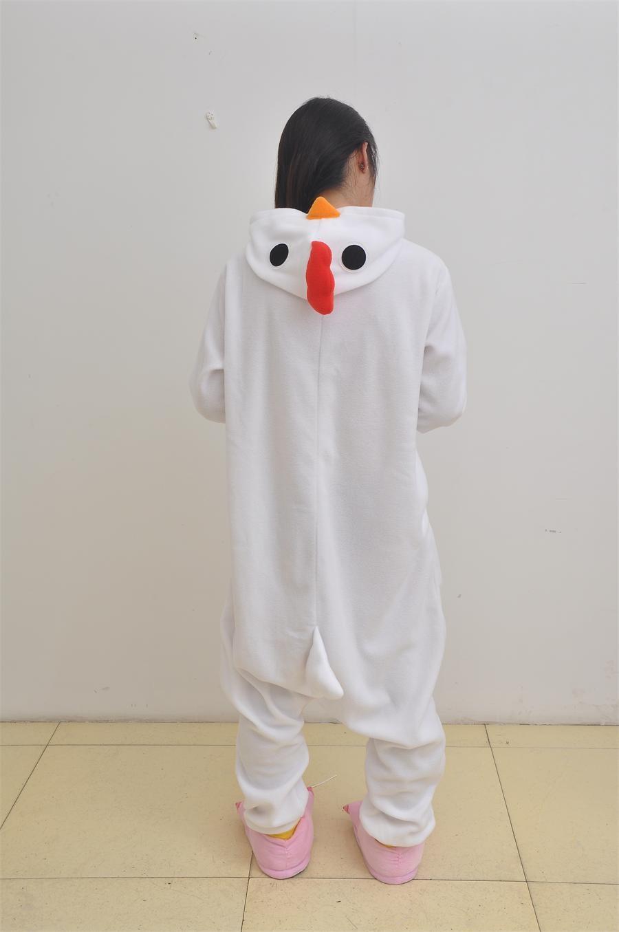 Christmas and Halloween new white cock jammed animal pajamas Sleepsuit clothing cartoon reality household to take