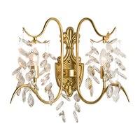 Европейский стиль Кристалл Бра Настенные светильники Современный wandlampe Dia41 * H40cm блеск cristal гостиной спальня лампа