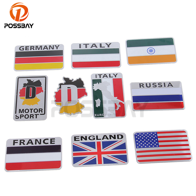Possbay car stickers uk usa france italy german russian india