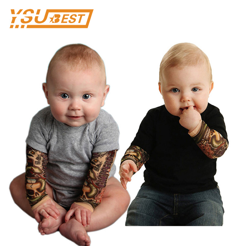 Infant Clothes Boys Jumpsuit Fashion Printed Tattoos Baby Clothes Newborn Romper Boy Girl Clothing Long Sleeve Baby Romper cute baby elephant print romper baby boy girl clothing newborn cotton long sleeve romper jumpsuit 2017 new baby clothing outfits