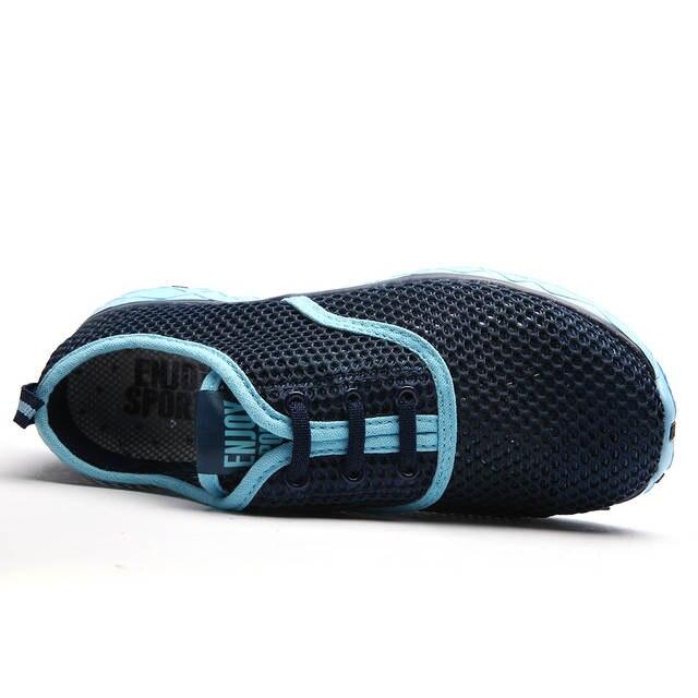 98fb98c90 Online Shop Women Breathable Running Shoes Plus Szie 36-47 Summer 2017 Beach  Water Shoes Men Mesh Walking Shoes Sport Sneaker zapatos Socone