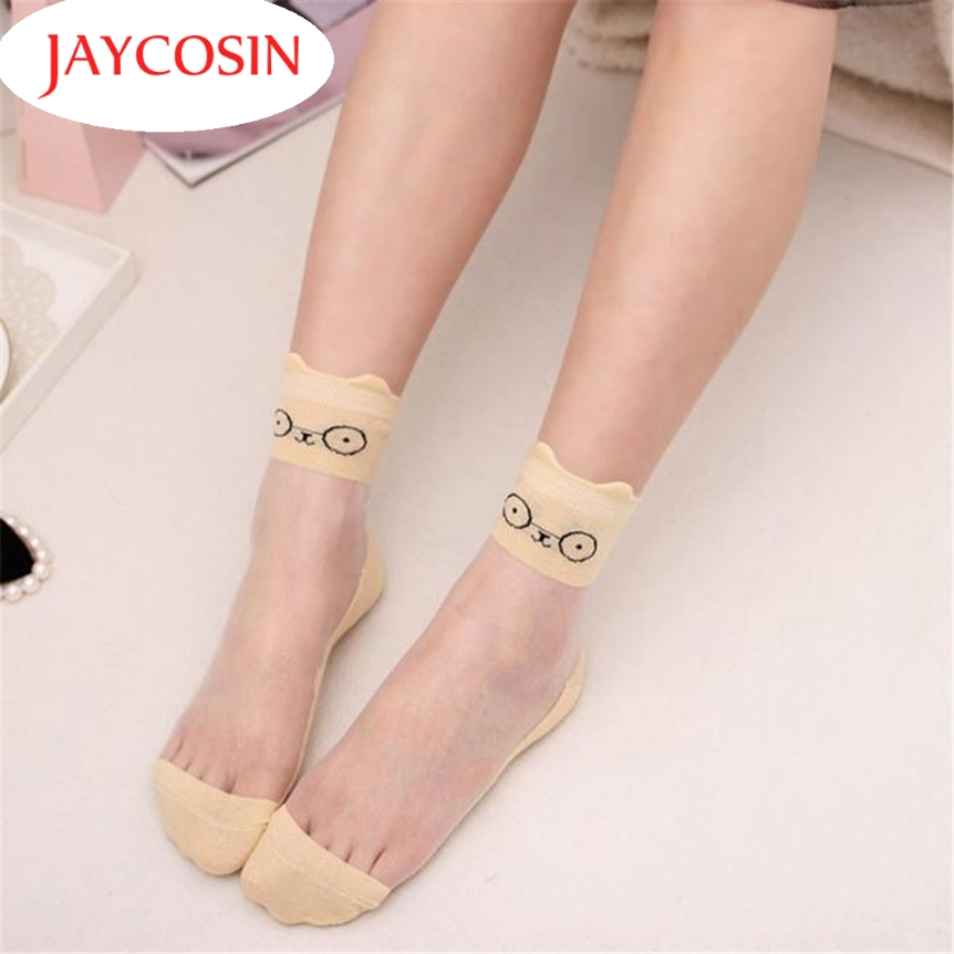 Top Quality JAYCOSIN Coolbeener Ultrathin Transparent Beautiful Crystal Lace Elastic Short Socks jan12 Drop Shipping