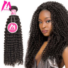 Maxglam Indian Virgin Hair Kinky Curly Unprocessed Natural Color Human Hair Bundles Extension Free Shipping(China)