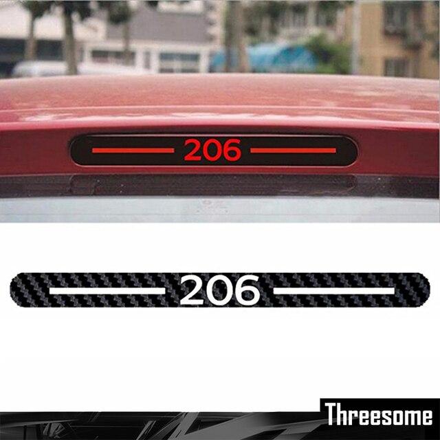 Us 107 45 Offsrxtzm Für Peugeot 206 Peugeot 307 Vinyl Aufkleber Auto Styling Kohlefaser Bremse Aufkleber Hinten Bremsleuchten Aufkleber Auto