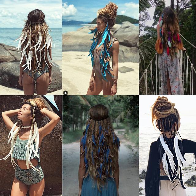 2020 Feather Gypsy Festival Headband Women's Fashion