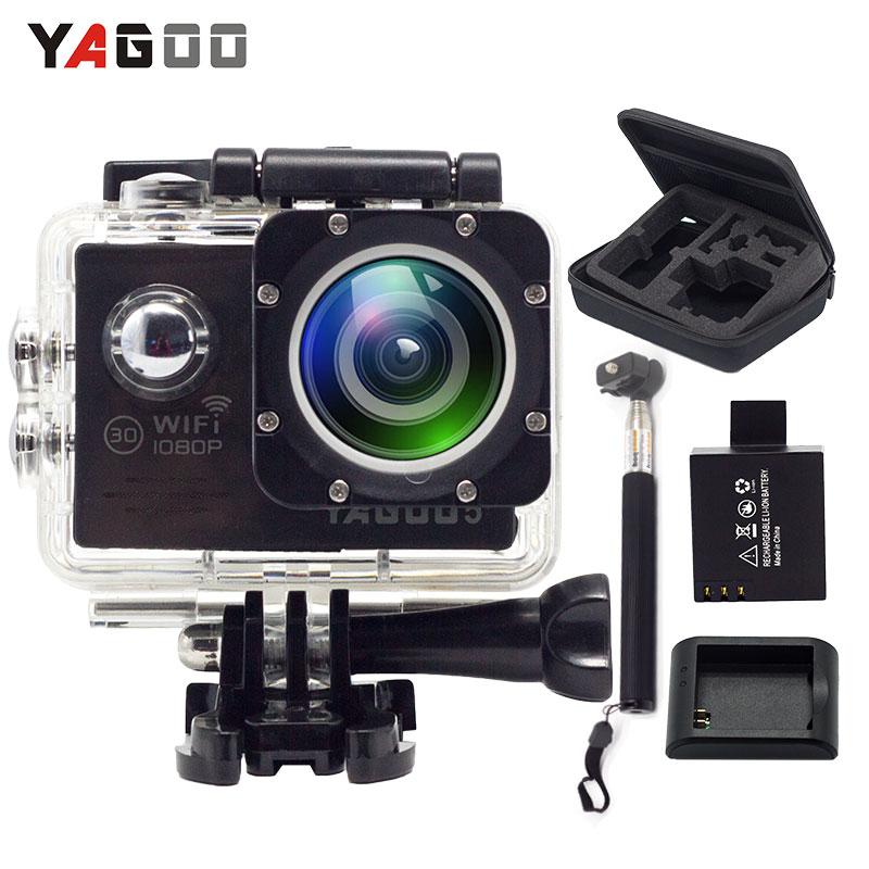 YAGOO5 Action Camera waterproof WIFI 12MP Full HD 1080P 30FPS 2.0LCD 170D Diving 30M Waterproof Sport Camera mini cam gitup git1 1 5 inch lcd wifi rf control action camera