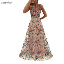 Embroidery  Formal dresses Womens Long Prom Lace  Flower Formal Party Bridesmaids Gowns Full Dress Laipelar цены