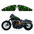 Motorcycle Green Skull Flame Sticker Fuel Tank Decals Stickers For Harley Sportster XL 883 XR 1200 C/L/R/N/V/X Universal