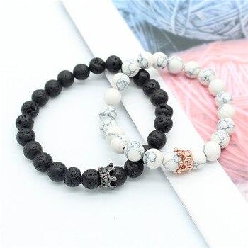 trouver le travail nouveau style sélectionner pour le meilleur Bracelets pour Couple Perle Couronne