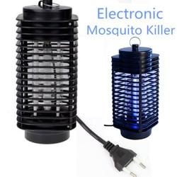 Eléctrico del asesino del Mosquito de la trampa polilla volar la lámpara Led luz de noche bicho insecto negro matar plagas Zapper Anti Mosquito de la UE nos enchufe