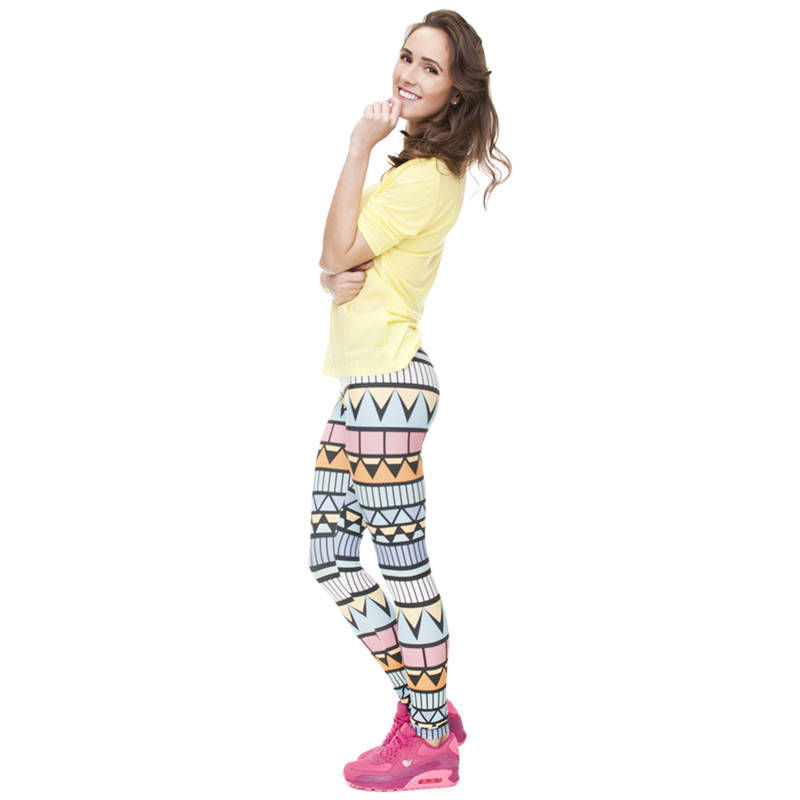 Zohra Brand New Fashion Aztec Printing legins Punk Women's Legging Stretchy Trousers Casual Slim fit Pants Leggings 18