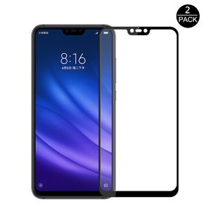 Image 1 - 2Pcs Full Cover Tempered Glass For Xiaomi Mi 8 Lite 9H Anti Scratch Safety Screen Protector Glass For Xiaomi Mi 8 Pro