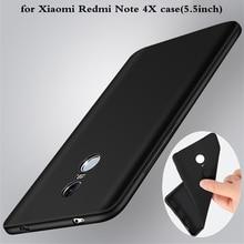 Ультратонкий ДЛЯ Xiaomi Redmi Note 4X Case черный матовый ТПУ Мягкий Скраб крышка Для Xiaomi Redmi Note 4X4 Телефон Обратно Case мешок 5.5 дюймов