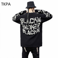 TKPA Vintage Sweaters Men Knit Sweaters And Pullovers Punk Printing Christmas Sweater Casual Knitted Streetwear TA166