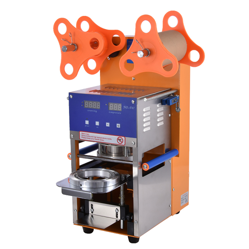 Bubble Tea Cup Sealing Machine Fully Automatic Stainless Steel Plastic Bubble Tea Sealing Machine Cup Sealer Cup 95MM Size automatic cup sealing machine commercial plastic milk tea cup sealer portable electric drinks sealing machine m10