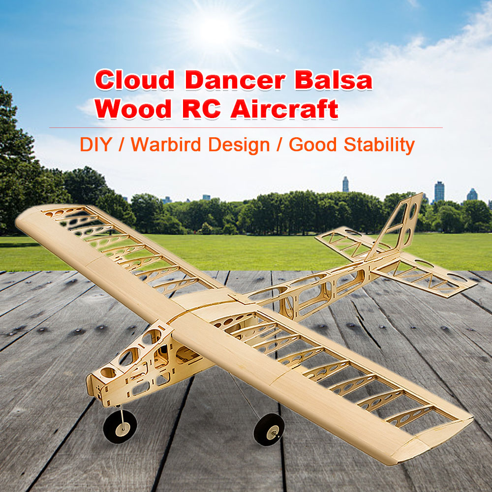 T2501 EP Cloud Dancer Training Plane Balsa Wood 1 3m Wingspan Biplane RC Airplane Aircraft RC