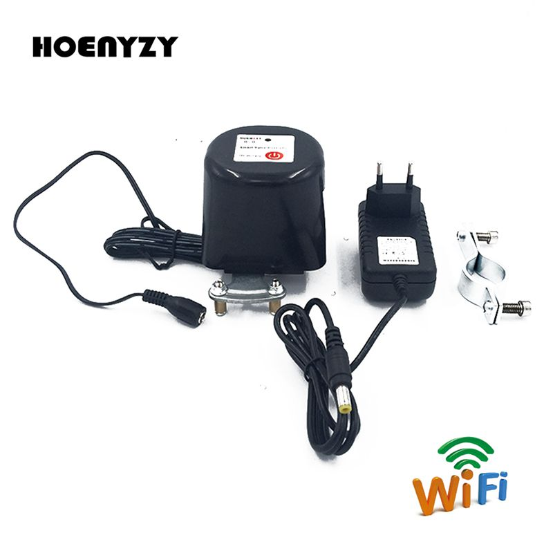 "Image 1 - DN15 DN20 Smart Wifi Gas Manipulator Valve Control 1/2"" 3/4"" Garden Water Shut Off Timers Irrigation Controller 12V 1A-in Valve from Home Improvement"