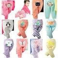 3 unids/lote NUEVA Niña Animales Traje Pantalón Completo Ocasional Infantil de Algodón Grande PP Pantalones Lindos Animales Ropa 6-24 m envío libre