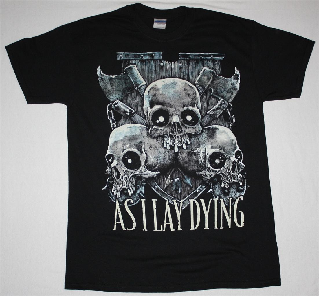 AS I LAY DYING SKULLS METALCORE ALL THAT REMAINS PARKWAY DRIVE NEW BLACK T-SHIRT New T-Shirt Men Fashion T Shirts Top Tee ...